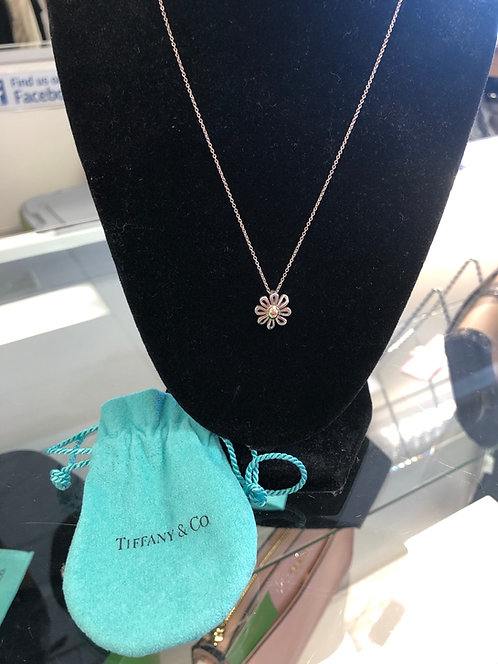 Tiffany & Co. Paloma Picasso Sterling and 18K gold Daisy Fliwer Neckkace
