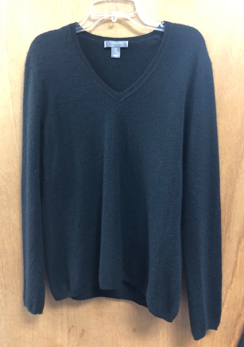Charter Club size M cashmere V neck sweater!