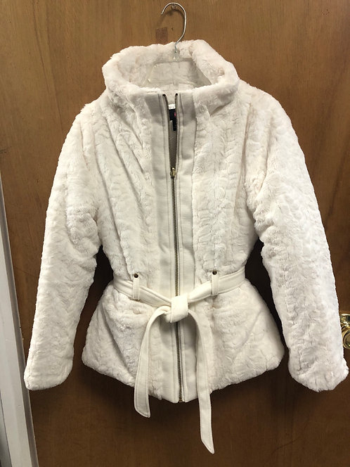 IZ Byer Girl size 10/12 furry white coat!