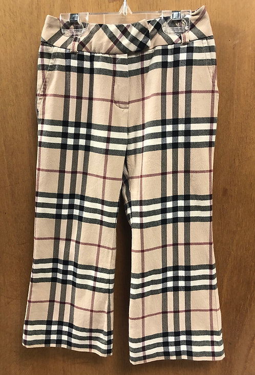 Burberry girls size 4 plaid pants!