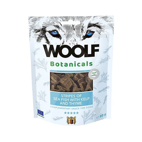Pamlsok Woolf Dog Botanicals Seafish stripes with kelp and thyme 80 g