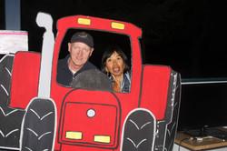 Steve et Decy dans le tracteur