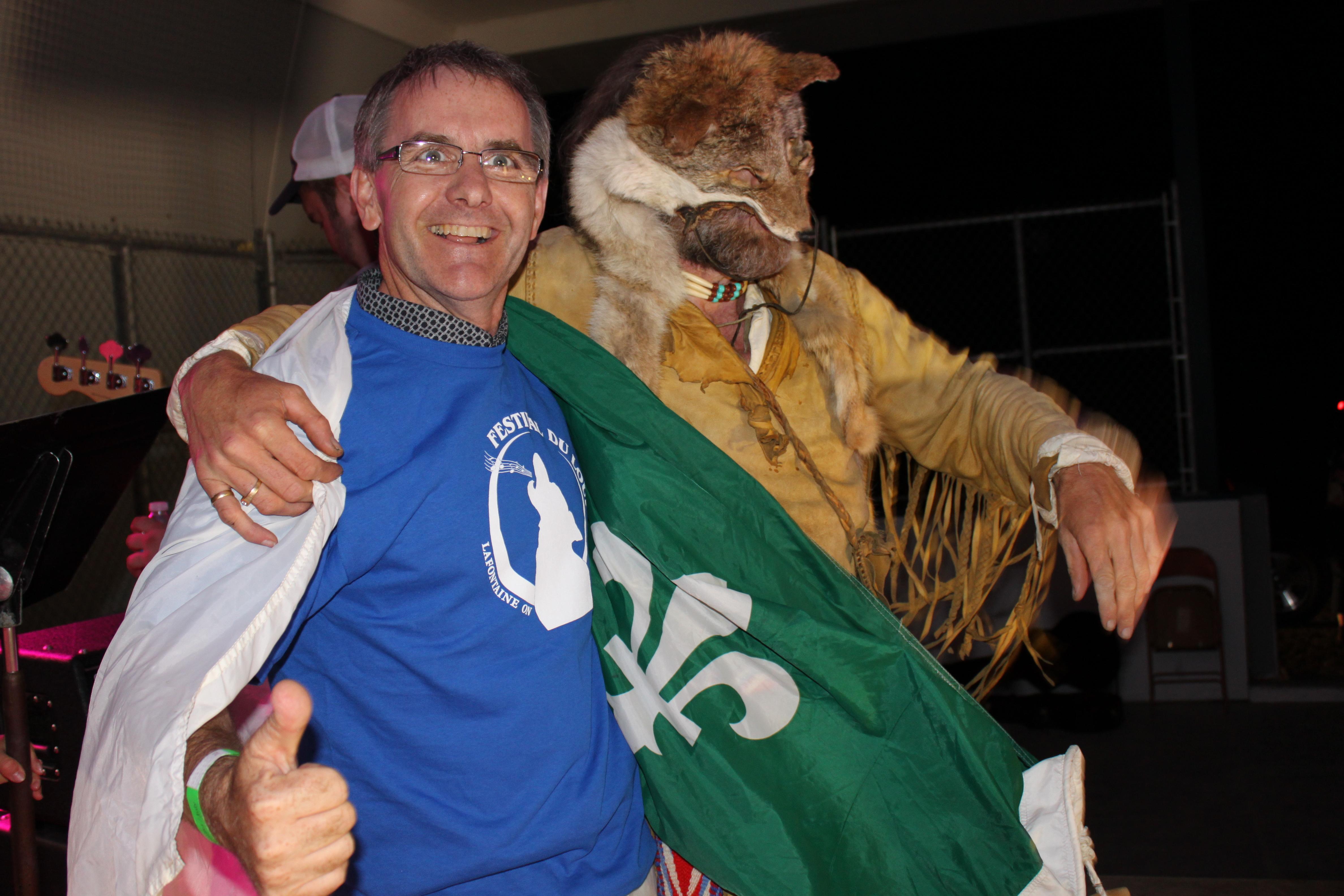 Bruce Stanton et le loup
