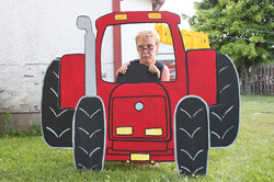 Jo dans le tracteur