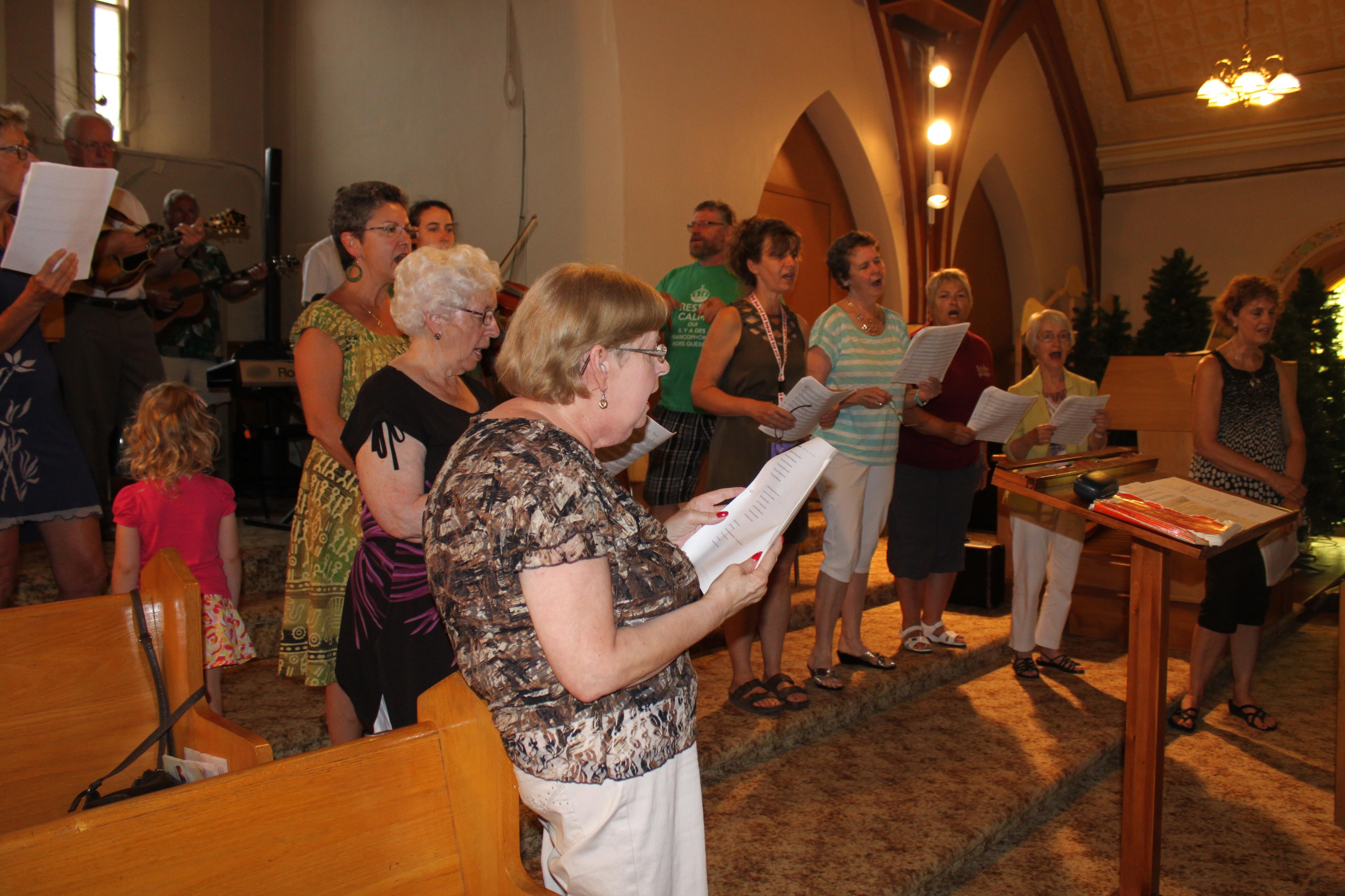 Le choeur à la messe