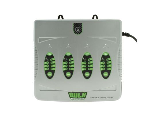 4 BANK 5 STAGE FULLY AUTOMATIC BATTERY CHARGER - 4 X 4 AMP 12V