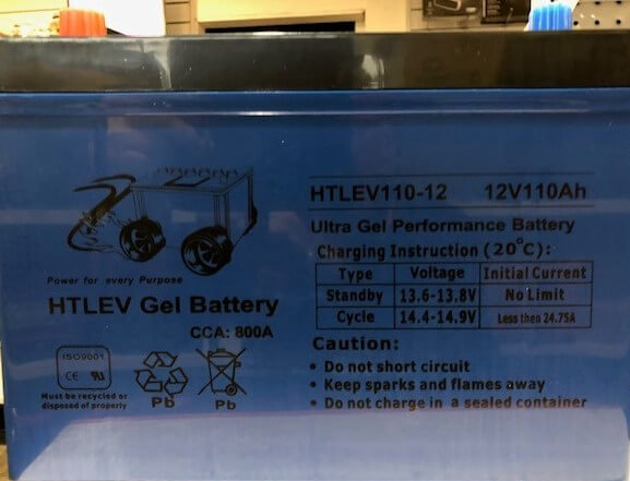 HTL110-12 ULTRA PERFORMANCE GEL BATTERY 800cca
