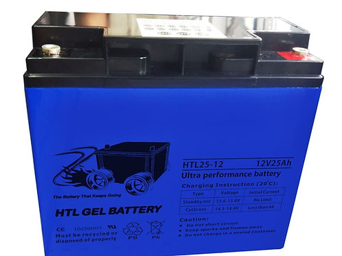 HTL25-12 ULTRA PERFORMANCE GEL BATTERY