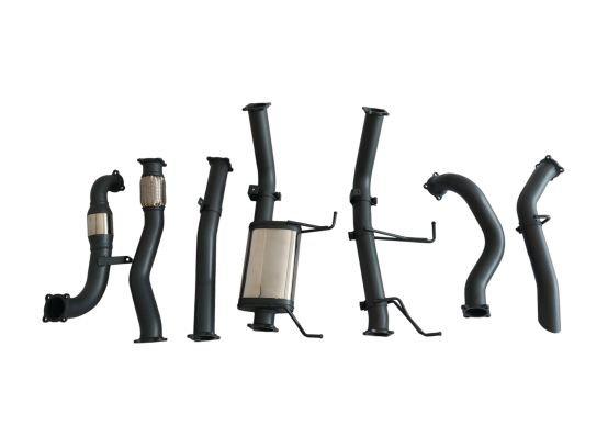 HULK STAINLESS STEEL EXHAUST KIT WITH MUFFLER DELETE - NISSAN PATROL GU Y61 WAGO