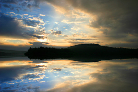 Sheepstor reflection Dartmoor.