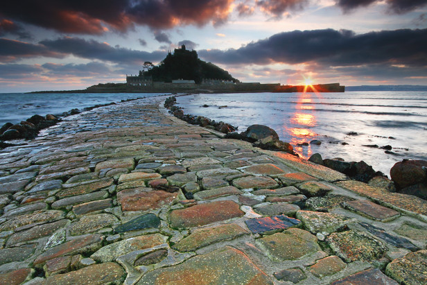St Michaels mount sunset.