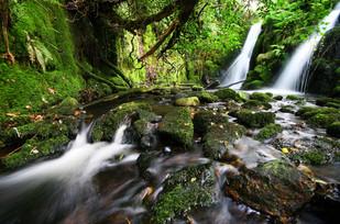 Twin Waterfall Dartmoor.