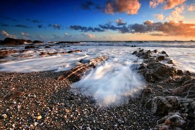 Sunset at Westcombe beach.