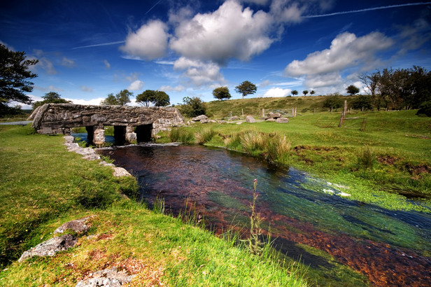 Stream and bridge Dartmoor.