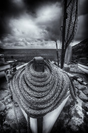 Swirled bow rope