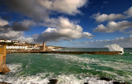 Porthleven harbour West Cornwall.
