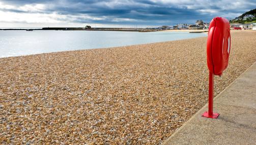 Lyme Regis seafront.