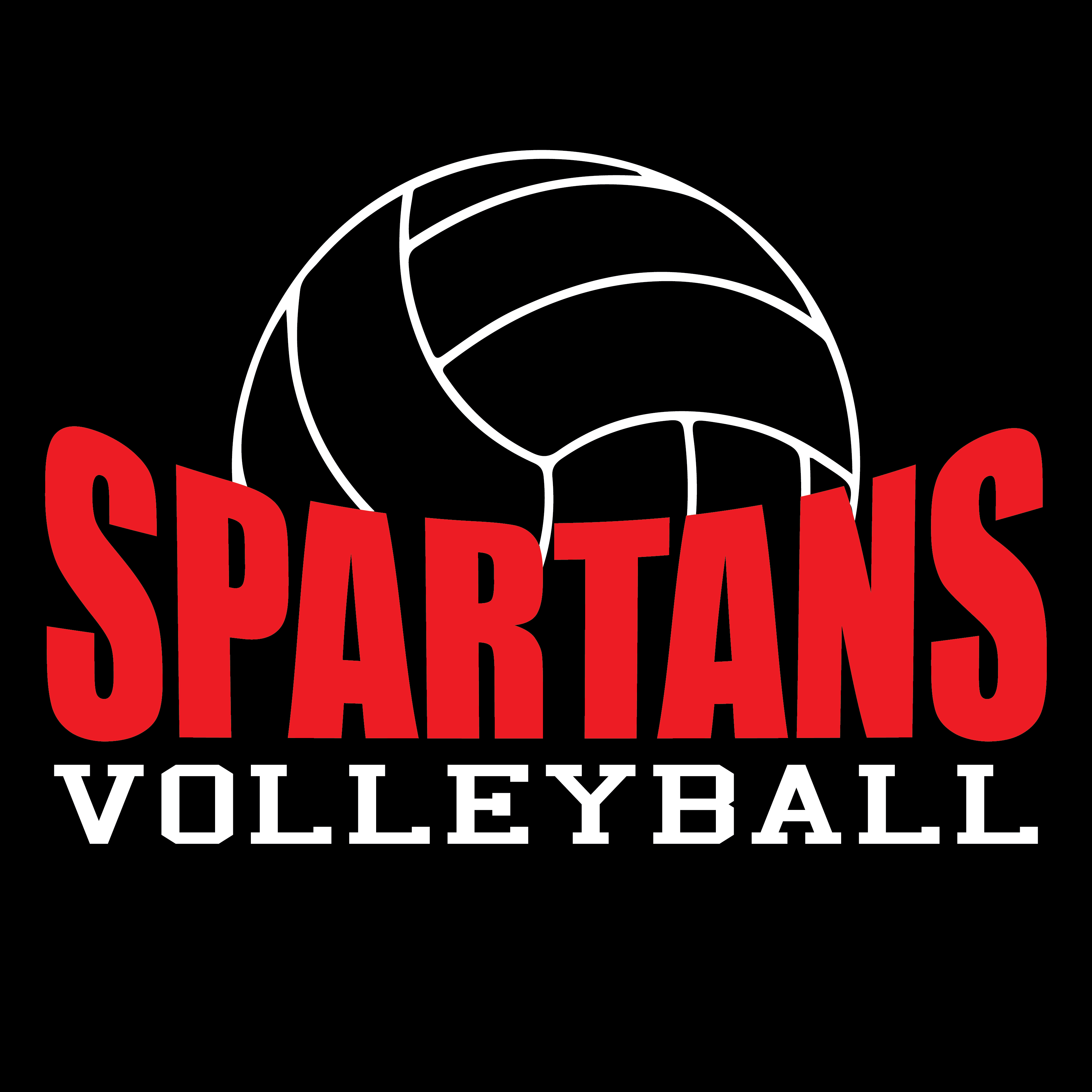 spartans volleyball roster tee