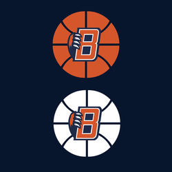 bridgeland b logo with claw on basketball