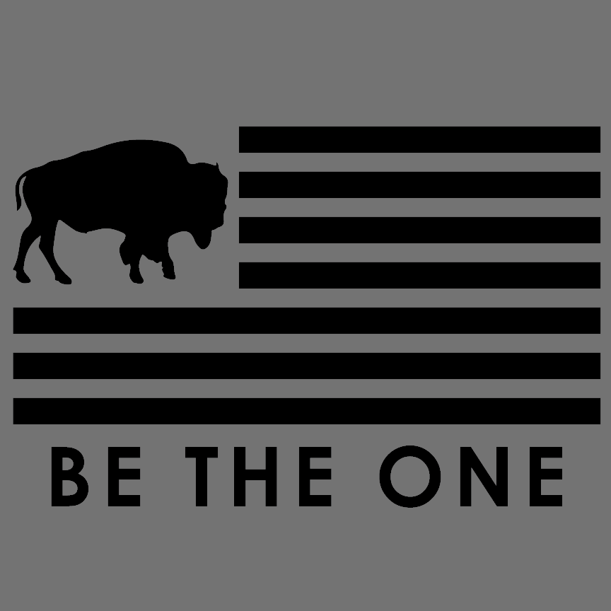 BE THE ONE BUFFALO FLAG PTO TEE