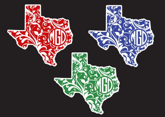 Texas Floral Monogram