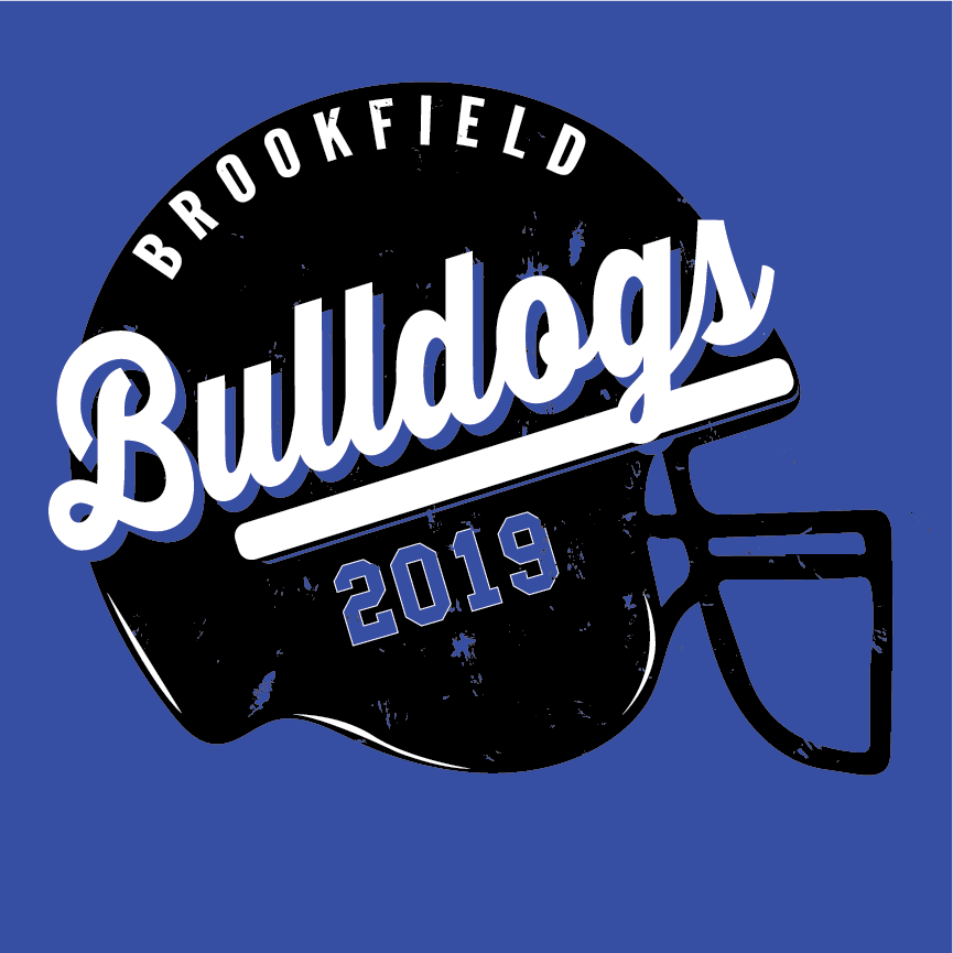 brookfield bulldogs football helmet