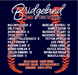 BRIDGELAND SOFTBALL ROSTER BACK