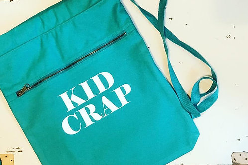 Kid Crap Cotton Canvas cinch bag
