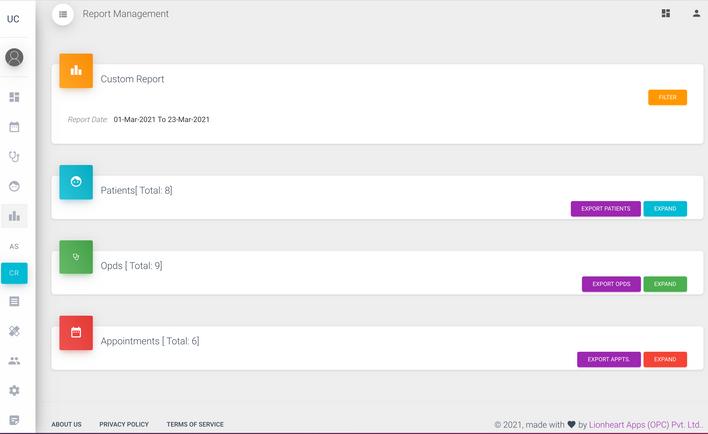Custom Report Page