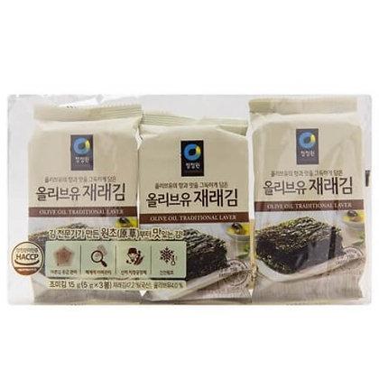 [KS019] 청정원 올리브유 재래김 3pks