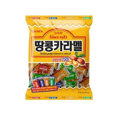 [KQ037] 크라운 땅콩카라멜 120g