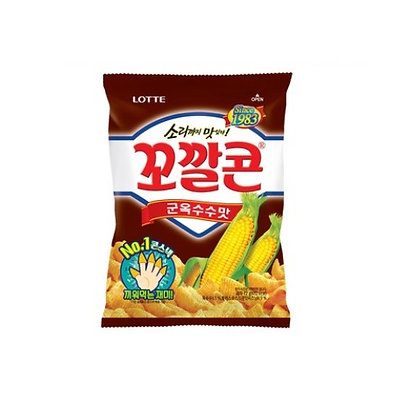 Lotte Kokal Corn Snack (Roasted Corn Flavour) 72g