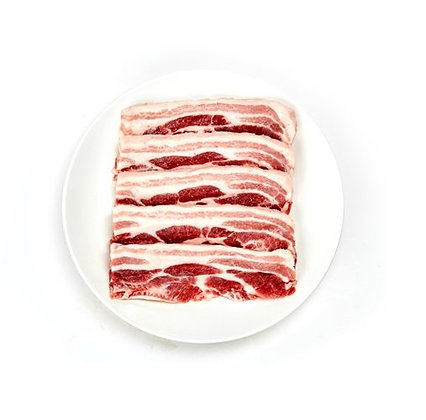Sliced Pork Belly 400g (short)