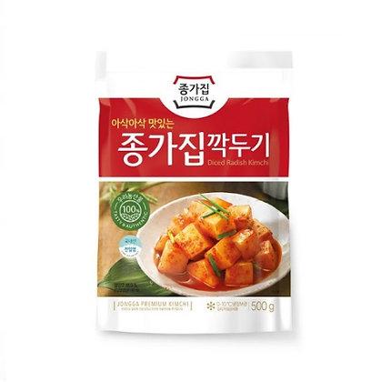 JONGGA Sliced Radish Kimchi(Kkakdugi) 500g