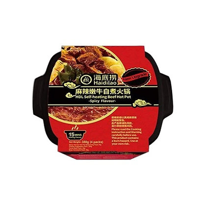 HAIDILAO Self-Heating Beef Hot Pot 380g (Spicy Flavour)