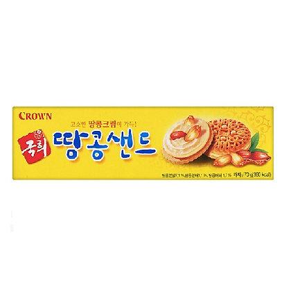 [KQ158] Crown Kookhee Peanut Sand 70g