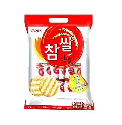 [KQ030] 크라운 참쌀 설병 128g