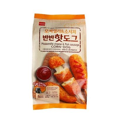 Wang Korea Mozzarella&Sausage Corn-Dog 400g