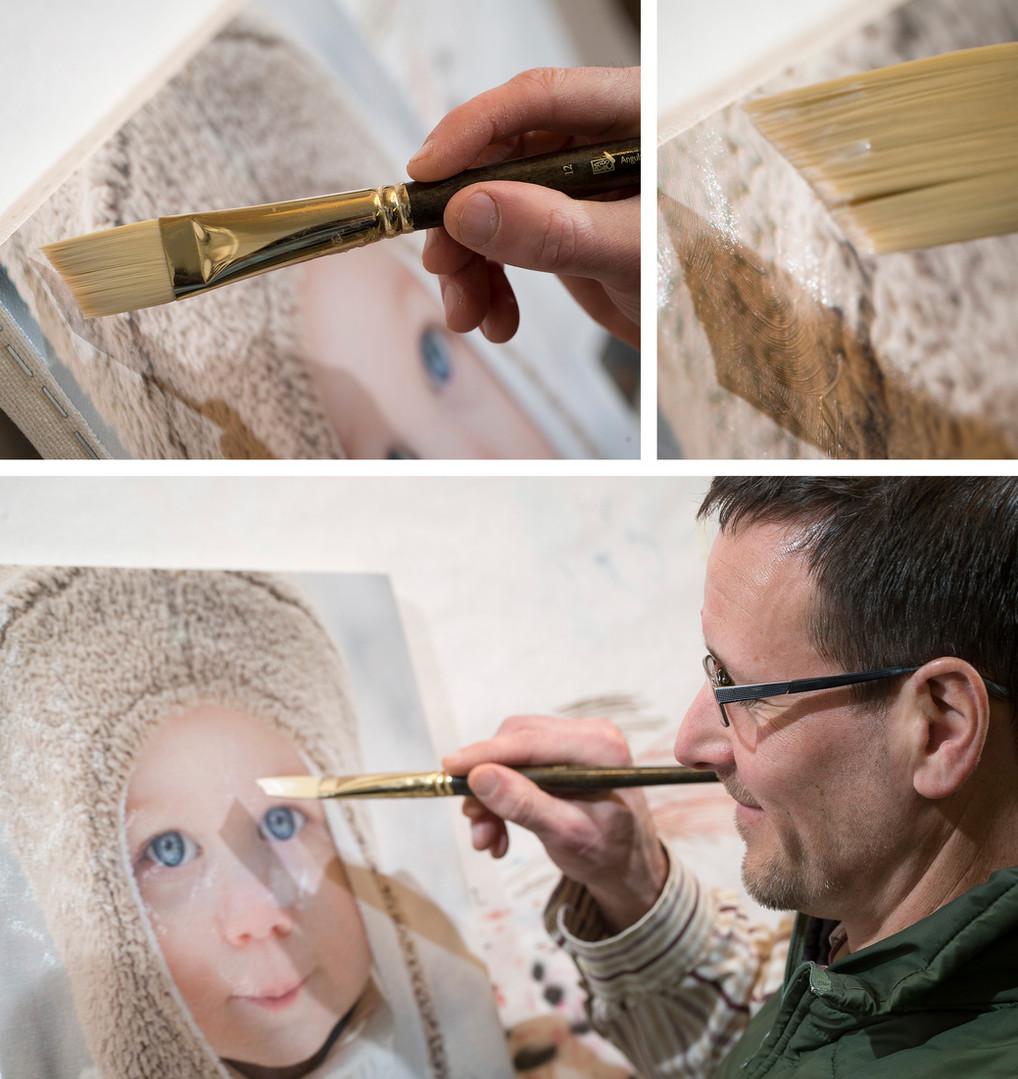 Acrylic brushstroking on Canvas
