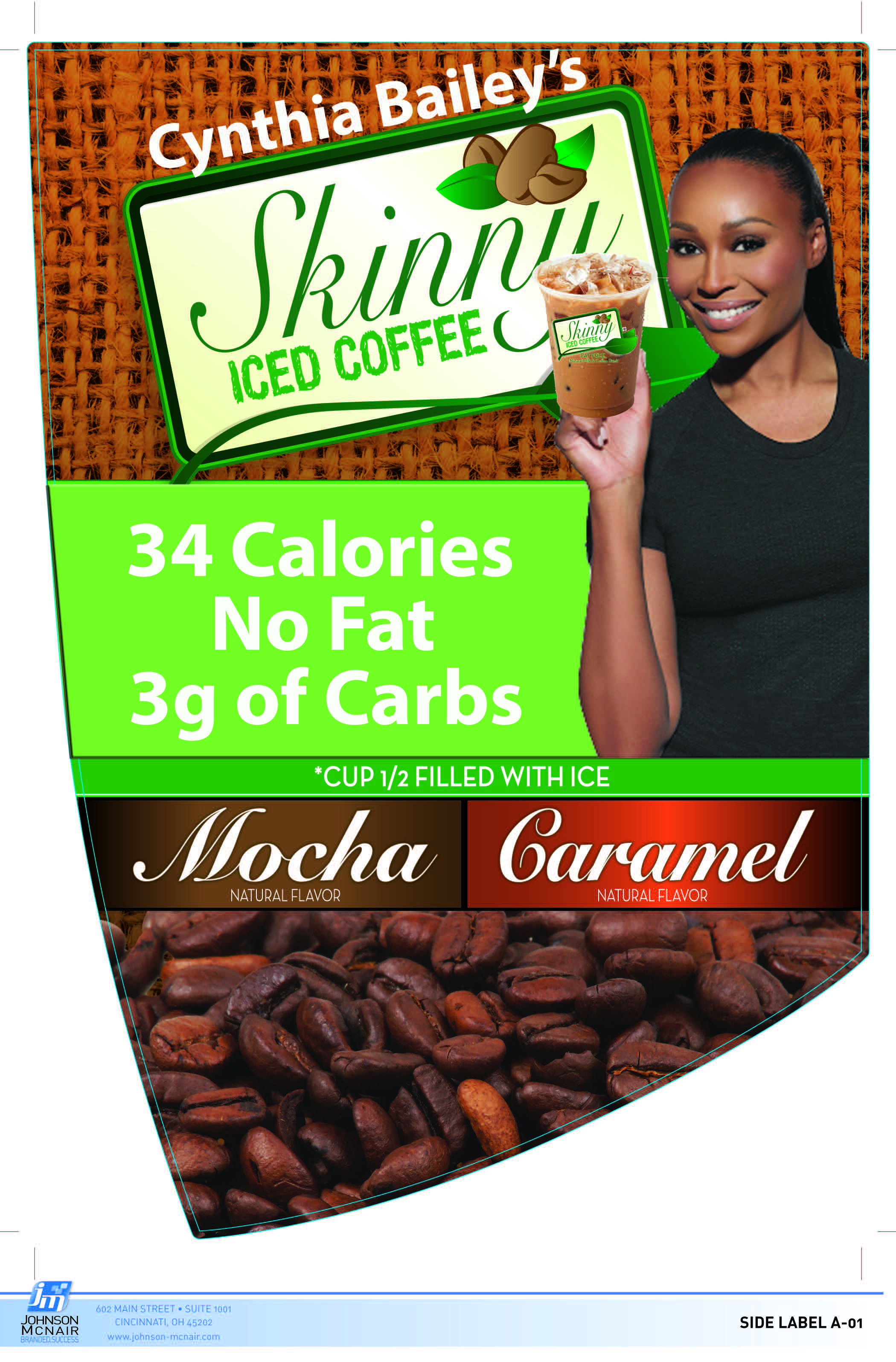 Cynthia Bailey Skinny Iced Coffee Side Panel  3-21-16