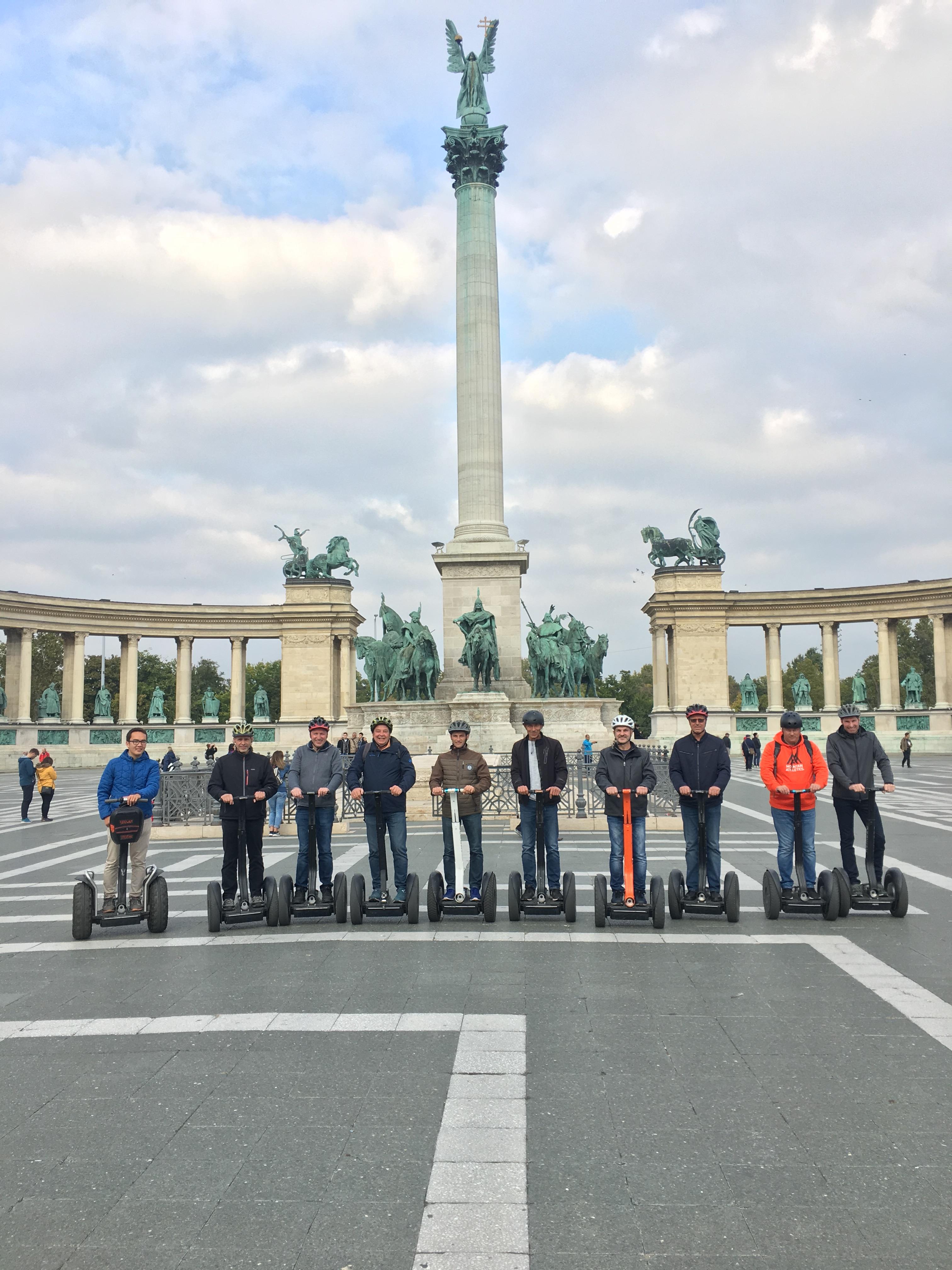 HERO'S SQUARE Budapest Segway Tou