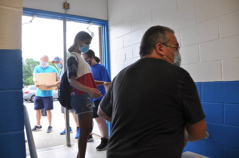 """Springfield Community """"Meets the Need"""" at Drive-Thru Food Pantry Event"""