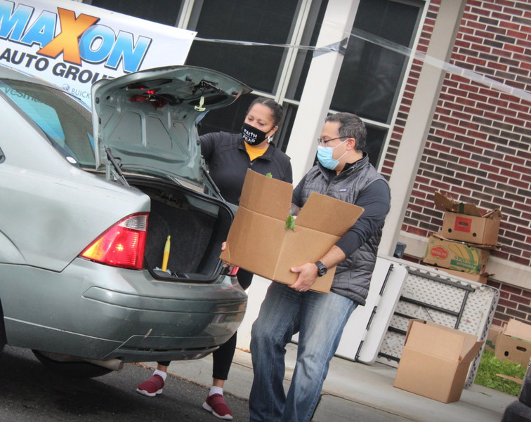 570 Boxes of Food Given Away at Saturday's Drive-Thru Food Pantry in Vauxhall