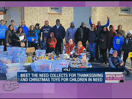 News 12 NJ – Meet the Need hands out 500 bags for Thanksgiving dinner