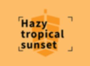 Hazy tropical sunset
