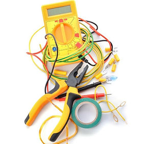 electricians-supplies-on-white-backgroun