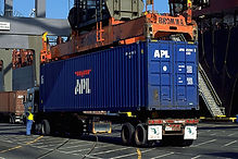 Truck with APL Container at Global Gatew