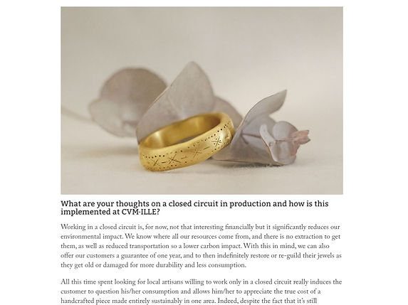 CVM ILLE jewellery in CONTENT Beauty & Wellbeing London blog meet the makers vegan sustainable jewellery handcrafted from recycled metals