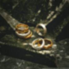 ANNEAVX from MARIVS collection by CVM ILLE jewellery - hammered bands engraved rings in 24k gold-plated recycled brass and recycled silver - genderless sustainable vegan fashion jewellery handmade in Paris