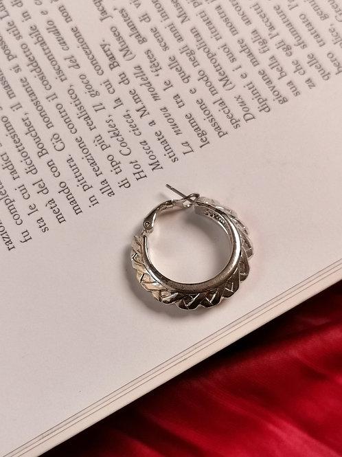 Couture hoop earrings